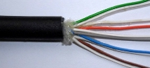 20m CW1128 Cable, 5 Pair BLACK