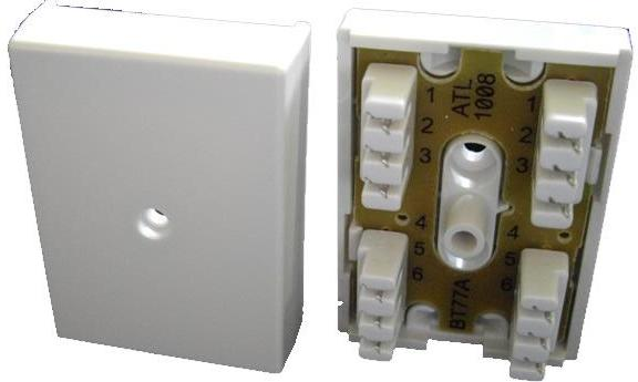 BT 77A Junction Box (6 way IDC connectors)