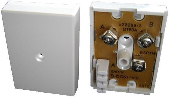 BT 80A Junction Box (3 way screw to 3 way IDC Connectors)