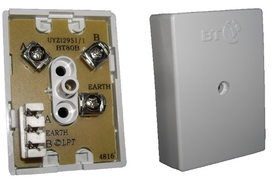 BT 80B Junction Box (3 way screw to 3 way IDC Connectors)