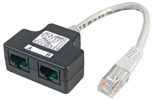 CAT5e Port Doubler/Splitter (1 PAIR)