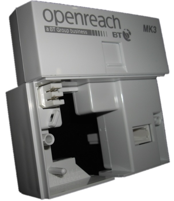 bt openreach mk3 nte5a vdsl faceplate genuine rh run it direct co uk Telephone Connector 25 Pair Color Code