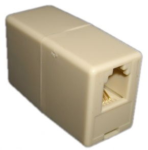 RJ10 Coupler-Cross Wired (Used to join two RJ10 Cables)