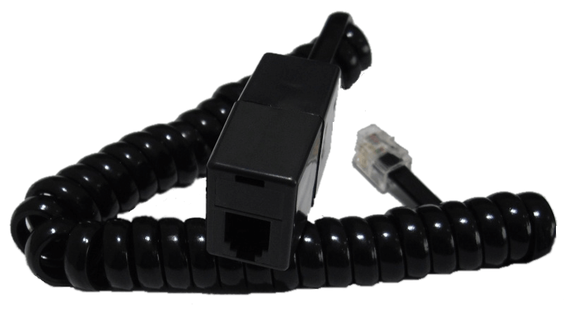 RJ10 Extension Lead (RJ10 Male to RJ10 Female), BLACK, 7.6M