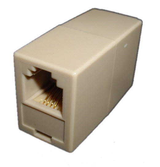 RJ10 to RJ11 Coupler-Rear