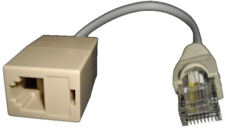 RJ11 Female to RJ45 Male Converter-Type A