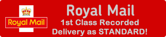1st class recorded delivery as standard!