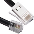 Telephone Line Cord - 4 Way (BT 431A to RJ11 6P4C) 3m BLACK