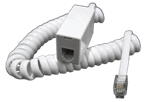 RJ10 Extension Lead (RJ10 Male to RJ10 Female), WHITE, 1.5M
