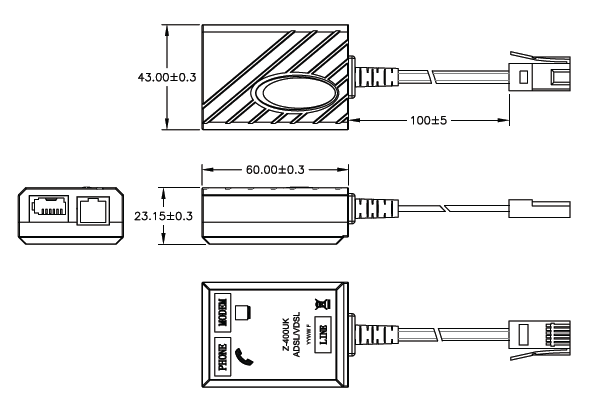 Pulse Z-400UK Dimensions